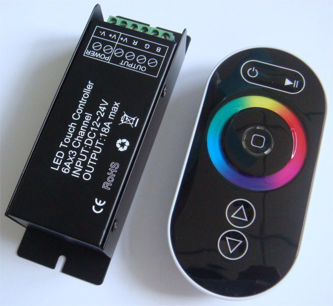 rgb led touch controller dimmer treiber steuerung 12v 24v rf funk fernbedienung ebay. Black Bedroom Furniture Sets. Home Design Ideas